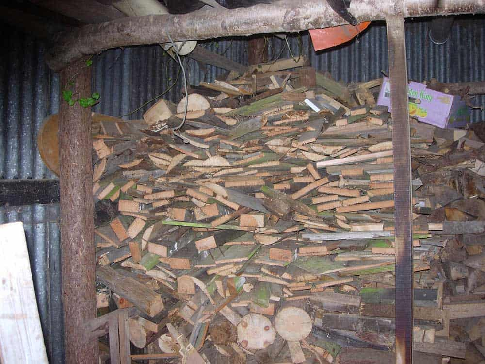 Scrap-wood-drying