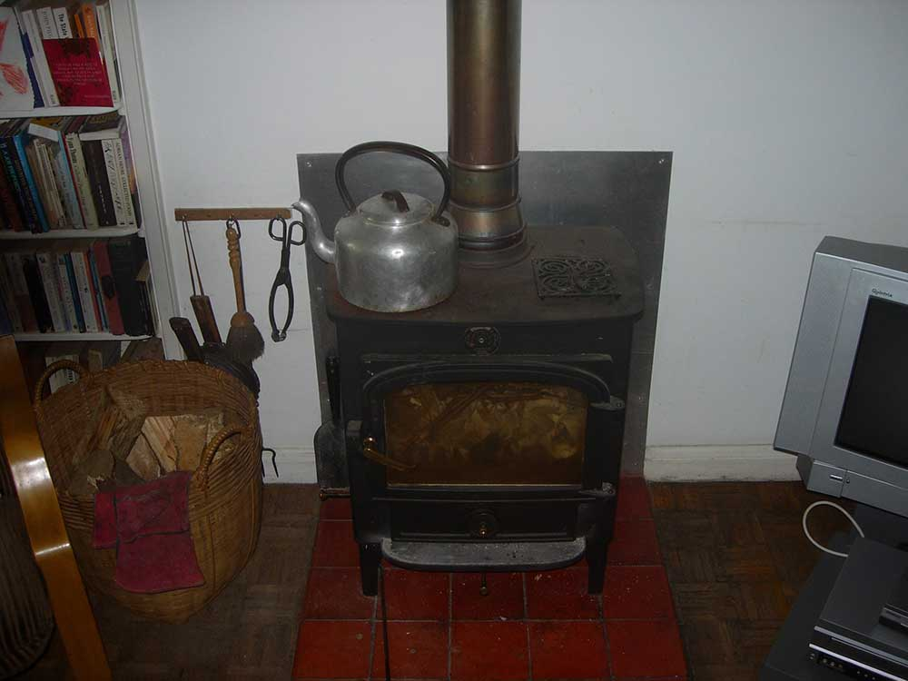 Woodburning stove boiler