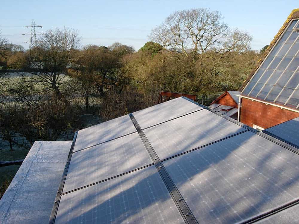 2006 PV panels on flat roof