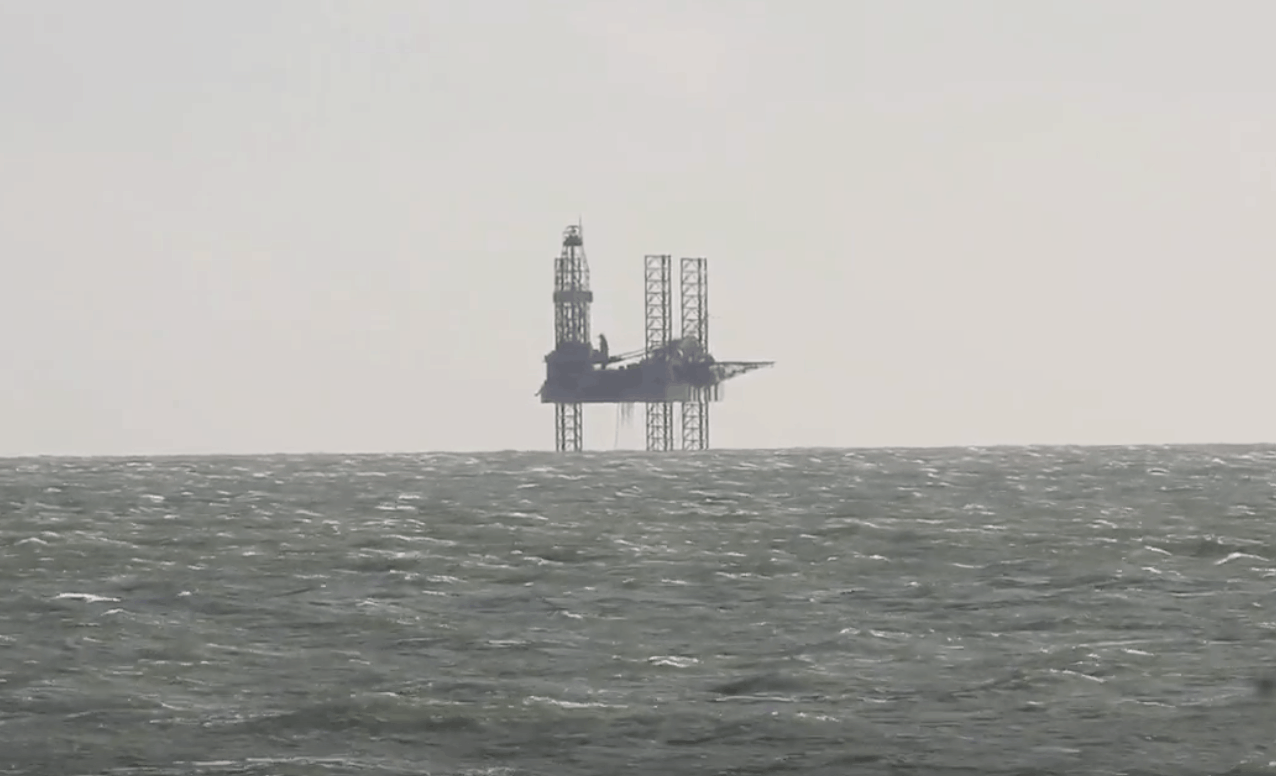 oil rig off the coast of bournemouth