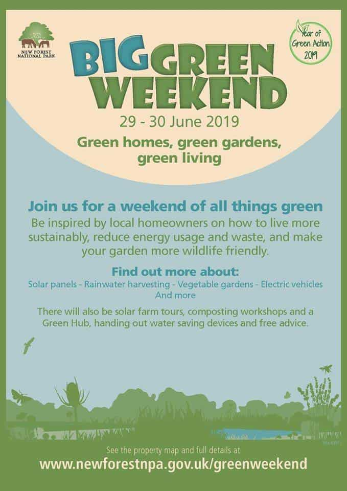Big green weekend poster