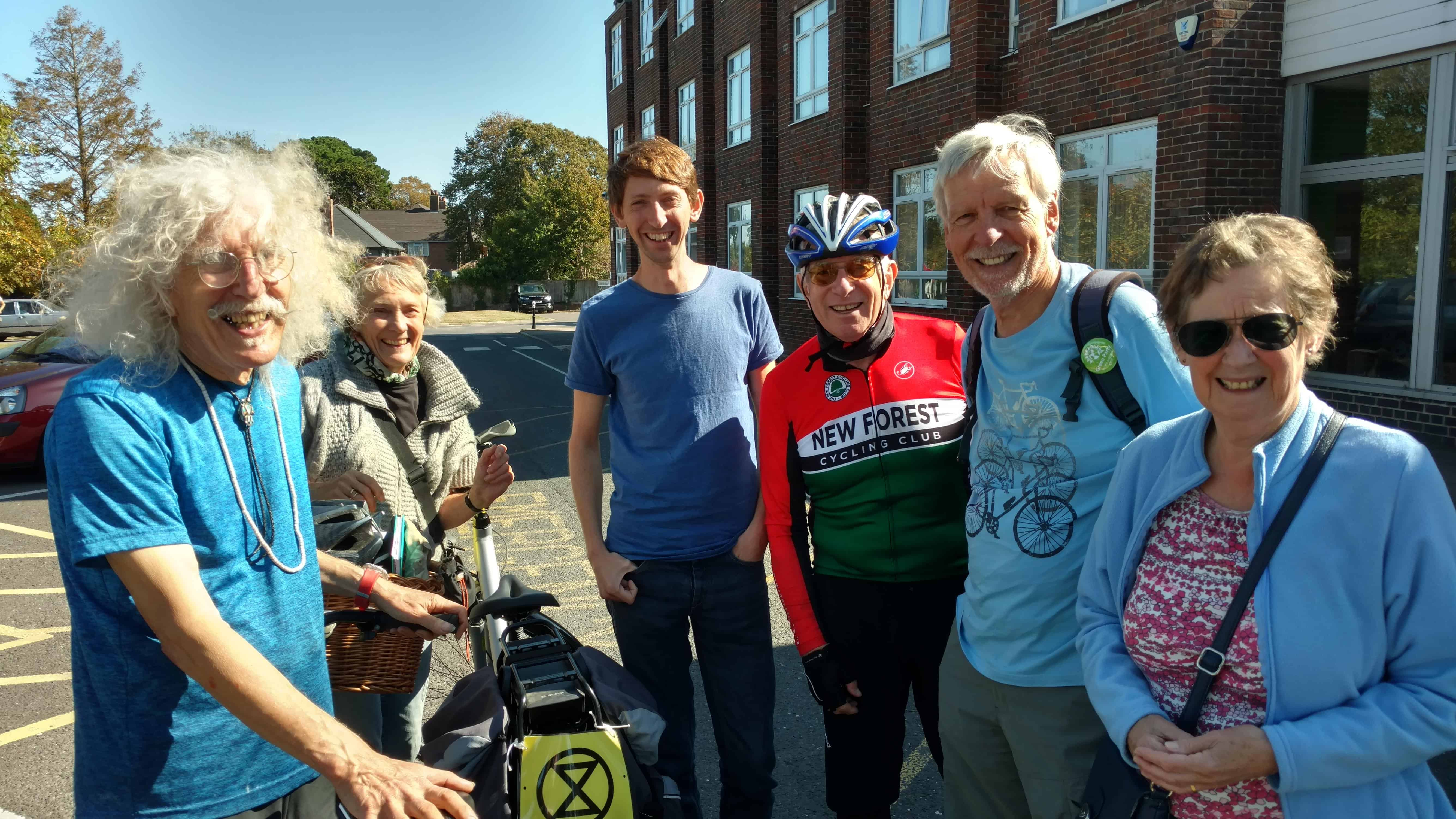 CORE GREEN PARTY MEMBERS FROM THE NEW FOREST