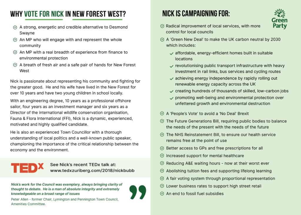 Nick bubb policies