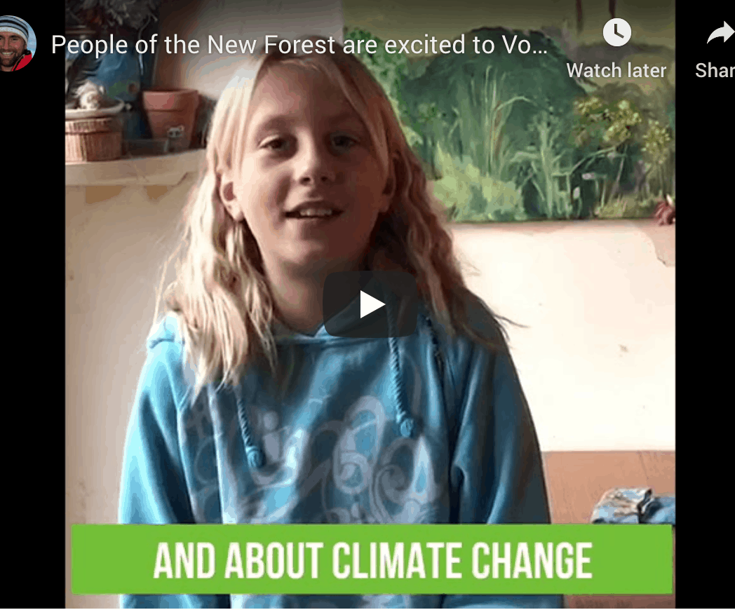 Vote for nick bubb video image - child talking about climate change